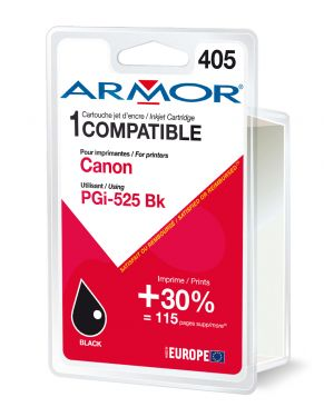 Cartuccia nera per canon pixma ip4850, mg5150, mg5250, mg6150, mg8150 20ml B12560R1 3112539256883 B12560R1_ARMPGI525BK by Armor