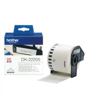 Nastro adesivo in carta nero e BROTHER - CONSUMABLES INK DK22205 4977766628198 DK22205_BRODK22205 by Brother - Consumables Ink
