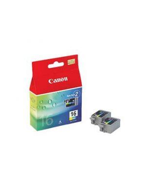 Scatola 2 refill colore bci16 ds700 pixma ip90 9818A002 4960999243641 9818A002_CANINKBCI16C by Canon