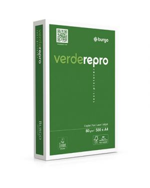 Carta fotocopie repro verde gr.80 a4 fg.500 1104535 by No