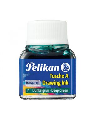 Inchiostro di china 523 verde scuro 7 10ml pelikan 201566 4012700201560 201566