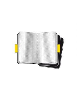 Moleskine set 3 cahier black cover in cartoncino rig.quadretti 50136