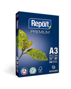 Carta fotocopie report premium a3 gr.75 fg.500 21034035 by No