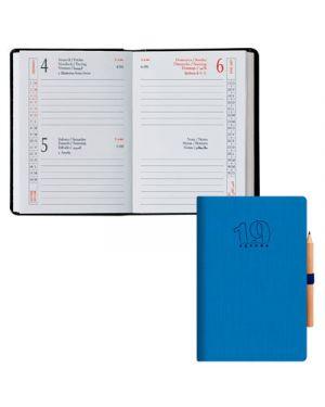 Agenda 6,5x10 2 gg classica matera azzurro BALDO 49170605 8032793650553 49170605