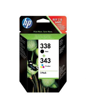 Confezione multi pack da 2 hp 338 - 343 nero - colori pacco misto SD449EE NHPSD449EE SD449EE_HPSD449EE