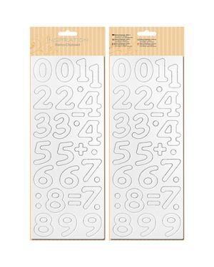 Numeri in cartone pretagliate 12x30,5 cm 62700002