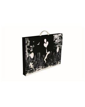 Valigetta black white 38x52.5x5.5 PF14235BW