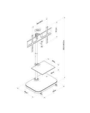 Tv stand 42p-shelf Sopar 23206 4005039232060 23206