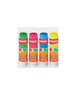 Colla stick 20gr colorata neon kores Confezione da 12 pezzi 16201_K16201 by Kores