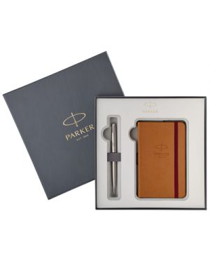Gift set parker sonnet sfera stainless steel ct + notebook 2018974