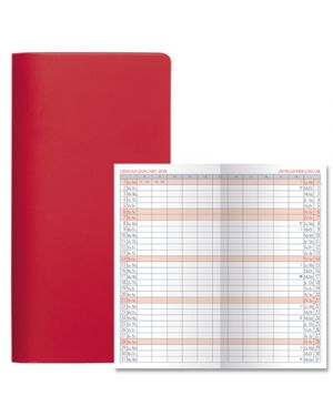 Agenda 7x13,5 planning satin bm rosso 52000103 52000103