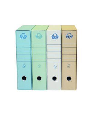 Registratori prot 8cm azzurro Brefiocart 0201170AZ 8014819012378 0201170AZ