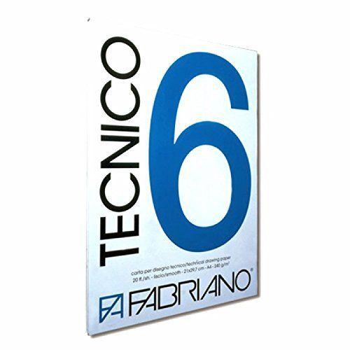 Album tecnico 6 ruvido 20ff 220gr Fabriano 09703550S 8001348119036 09703550S by Fabriano