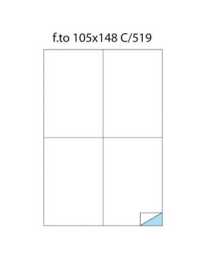Etichette 105x148 laser polies Markin 220LWMC519 8007047023117 220LWMC519