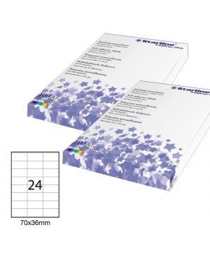 Etichetta adesiva bianca 100fg a4 70x36mm (24et/fg) starline STL3023_STL3023 by Esselte