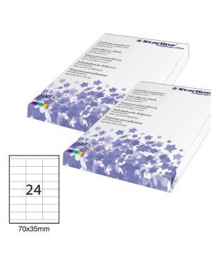 Etichetta adesiva bianca 100fg a4 70x35mm (24et - fg) starline STL3054 8025133024534 STL3054_STL3054
