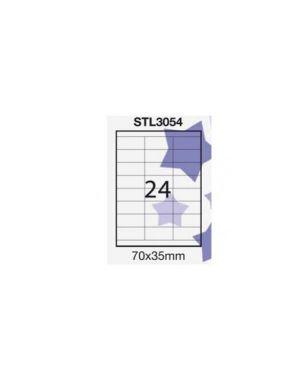Etichetta adesiva bianca 100fg a4 (24 et. 70x35mm) starline STL3054_STL3054
