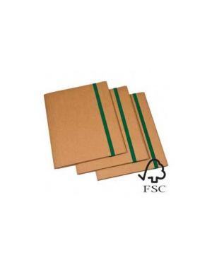 Cartellina 3 lembi 25x35cm cartone fsc c/elastico piatto 2cm starline Confezione da 5 pezzi 1403_STL6100 by Starline