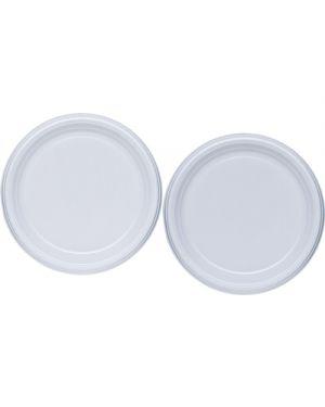 Piatti plastica  bianca piani diametro cm.21 pz.50 DOPLA 1230 8008650991657 1230_STL6201