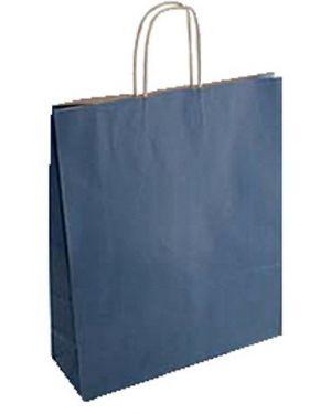 Cf25shopper 26x12x35 sealing blu - Shopper in carta 70081 by No
