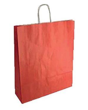 Cf25shopper 36x12x41 sealing rosso - Shopper in carta 70159 by No