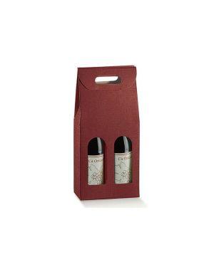 Cf5 scatola 2bott bordx 18x90x38.5 - Scatola porta bottiglie 36108C