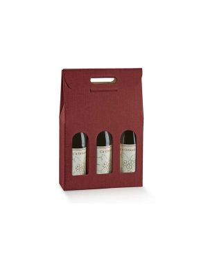 Cf5 scatola 3bott bordx 27x90x38.5 - Scatola porta bottiglie 36109C