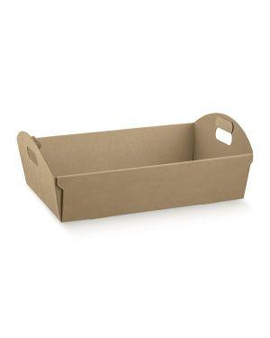 Cf2 cesto cartone avana 37x26.5x10 - Cesto in cartone per regalo 35907C by No