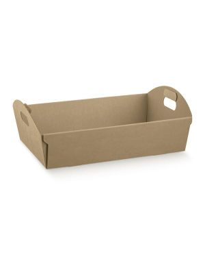 Cf2 cesto cartone avana 37x26.5x10 - Cesto in cartone per regalo 35907C