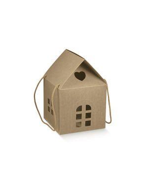 Cf2 scatola casetta avana 20x20x18 - Scatola casetta 35855C by No