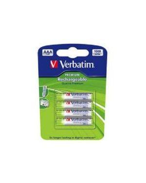 Scatola 4 batterie aaa ricaricabili capacita' 1000 mah 49942 23942499428 49942_VERB49942 by Verbatim