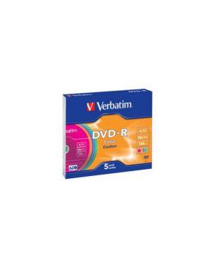 Dvd r 16x verbatim 4.7 gb colour 43557_VERBDVD-R4716C