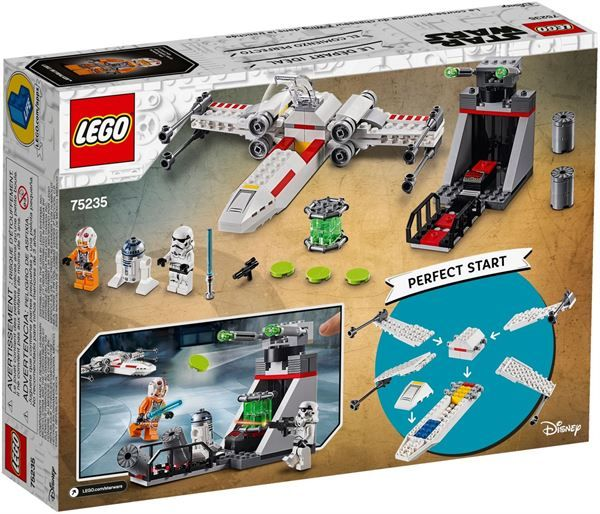 X-wing starfighter trench run Lego 75235 5702016370416 75235 by Lego