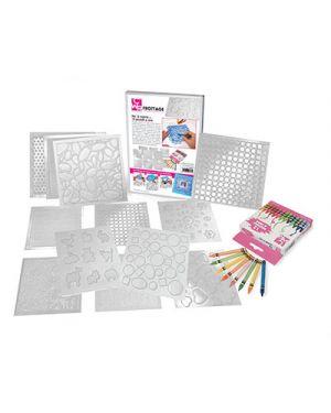 Frottage - scatola 12 pz. + 12 pastelli a cera CWR 9857 8004957098570 9857