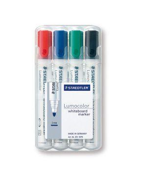Busta 4 pennarelli lumocolor 351 staedtler per lavagne cancellabili 351WP4 4007817328934 351WP4-1