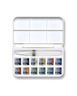Acquerelli cotman mezzi godet set brush pen 12 colori con pennello WINSOR & NEWTON 390658 884955053683 390658