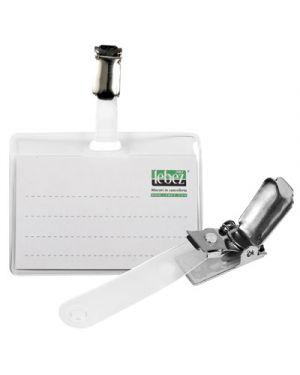 Portabadge con clip in metallo mm.88x55 pz.50 LEBEZ 80462 8007509072967 80462