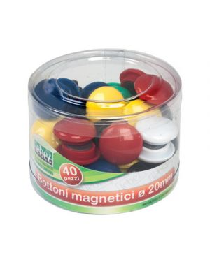 Magneti calamitati d.20 pz.40 colori assortiti LEBEZ 2140 8007509037362 2140 by Lebez