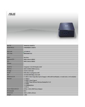 Chromebox3 - n3865u - 4gb - 32ssd - chros Asus 90MS01B1-M00070 4712900987225 90MS01B1-M00070