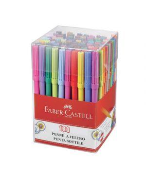 Pennarelli castello in barattolo pz. 100 2x50 colori FABER CASTELL 353000 8033373552465 353000