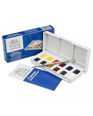 Acquerelli cotman  mezzi godet sketchers 12 colori con mini pennello WINSOR & NEWTON 390640 5012572005784 390640