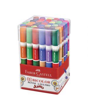 Pennarelli faber castello bicolor jumbo in barattolo pz.30  60 colori FABER CASTELL 150930 8033373552458 150930