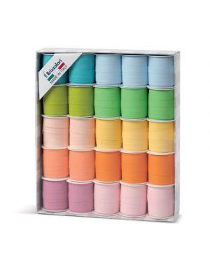 Stella adesiva mat mm.10 pezzi 100 in 5 colori pastel 3053
