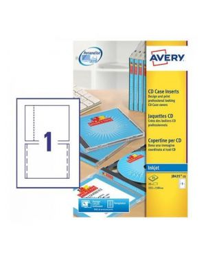 Copertina x cd fronte-retro singolo Avery J8435-25 5014702105074 J8435-25