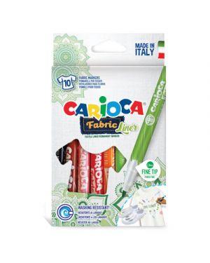 Pennarelli carioca punta fine fabric per tessuto pz.10 42909