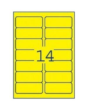 Etichette fluo rimov 99 1x38 1 Avery L7263Y-25 5014702175657 L7263Y-25