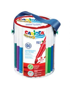 Pennarelli carioca bravo vaso 60 pz CARIOCA 40100 8003511401009 40100 by No