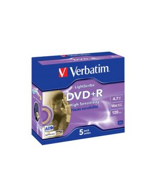 Dvd+r 16x  verbatim 4.7 gb lightscribe high sensivity VERBATIM 43575 0023942435754 43575