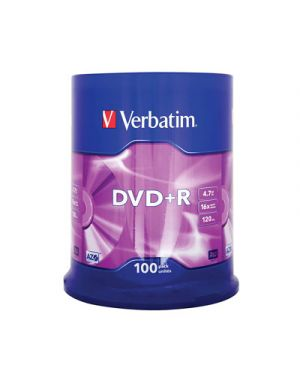 Dvd+r 16x verbatim 4.7 gb campana pz.100verbatim435510023942435518 43551