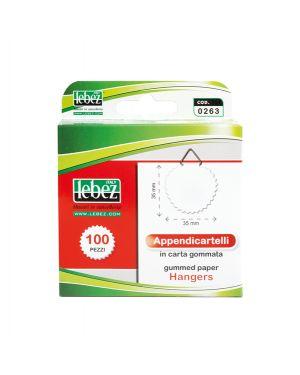 Scatola 100 appendicartelli adesiv. carta gommata art.263 263 8007509002636 263
